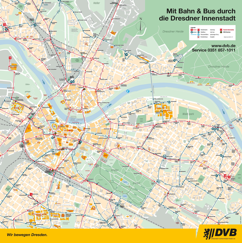 City maps DVB Dresdner Verkehrsbetriebe AG