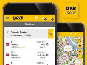 Dvb Mobil Die Offizielle Fahrplan App Dvb Dresdner