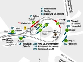 Haltestellenumgebungsplne DVB Dresdner Verkehrsbetriebe AG