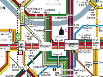 Section of Dresden network map