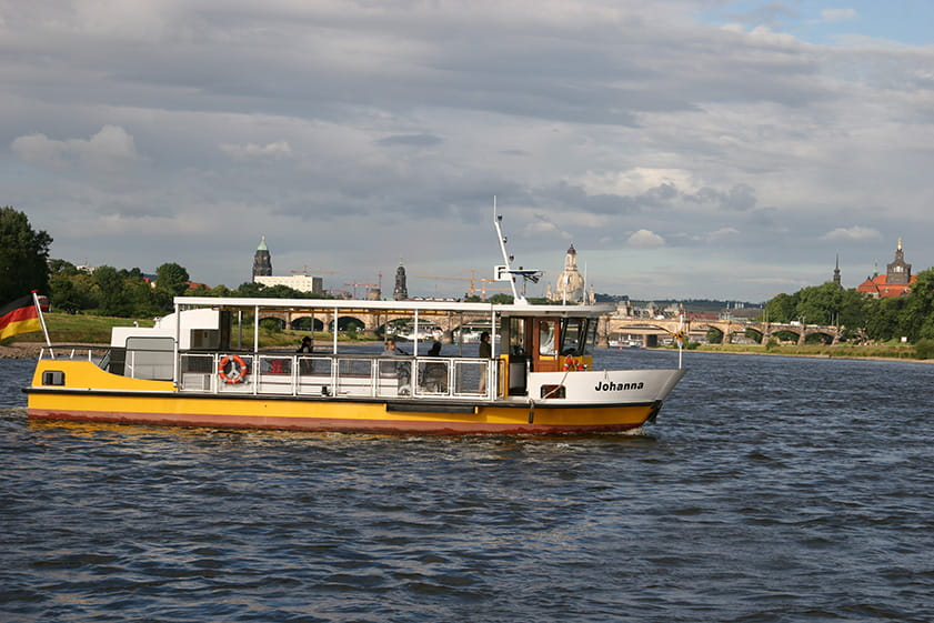 Elbe ferry on the river