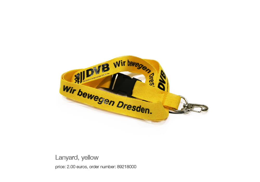 Lanyard, yellow, price: 2.00 euros, order number: 89218000