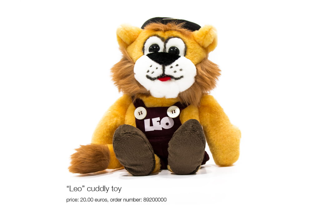 """Leo"" cuddly toy, price: 20.00 euros, order number: 89200000"