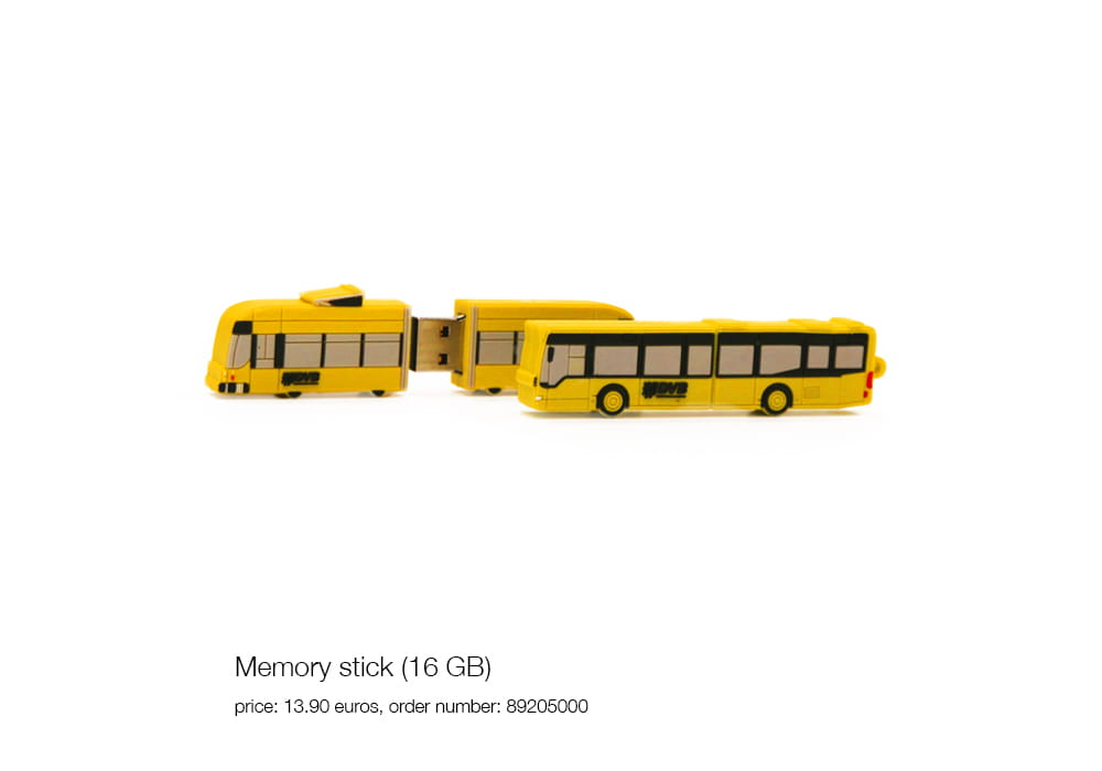 Memory stick (16 GB), price: 13.90 euros, order number: 89205000