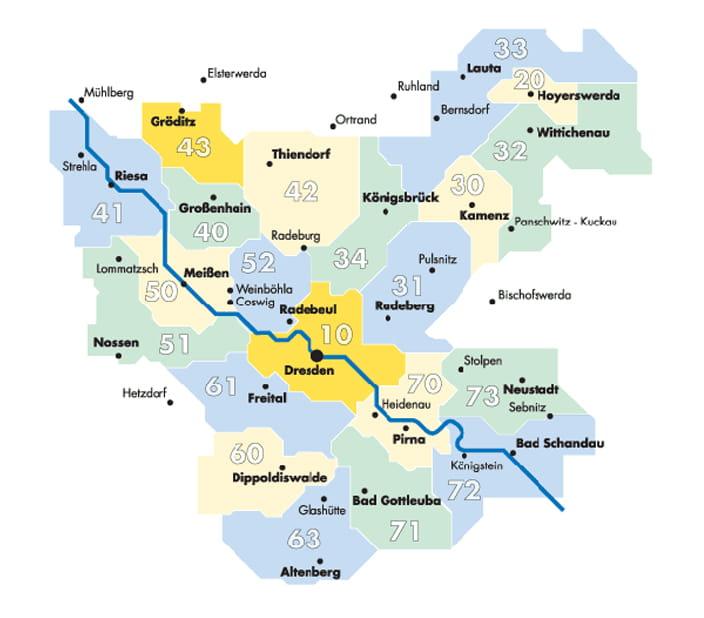 Fare zones DVB Dresdner Verkehrsbetriebe AG