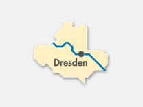 Schematic map of Dresden fare zone