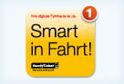 "Kampagnenmotiv Handyticket ""Smart in Fahrt"""